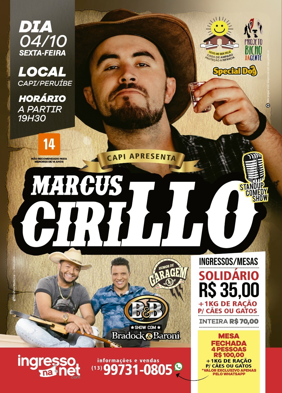Stand Up Comedy Marcus Cirillo na CAPI